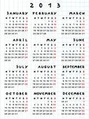 Ano calendário de 2013 da cobra — Foto Stock