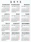 Kalendářní rok 2013 hada — Stock fotografie