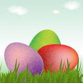Osterkarte mit Eiern — Stockfoto