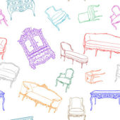 Rococo furniture pattern — Stock Photo