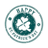 Saint patrick's day greeting stamp — 图库照片