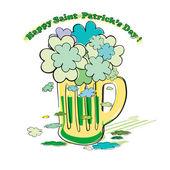 圣帕特里克三叶草花束涂鸦 — 图库照片