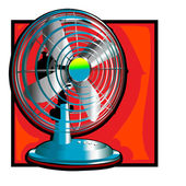 Retro wind fan clip art — Stock Photo