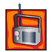 Retro radio clipart — Zdjęcie stockowe