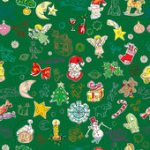 Green christmas pattern — Stock Photo