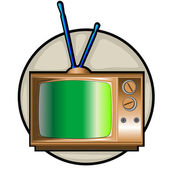 Retrò tv impostare clipart — Foto Stock