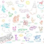 Speelgoed doodles — Stockfoto