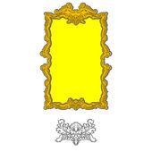 Rococo ornament frame — Stock Photo