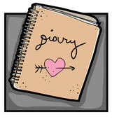 Diary clip art — Stock Photo