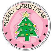 Kerstboom sticker — Stockfoto