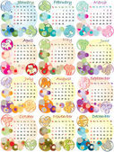 Calendar 2012 with zodiac signs — Stock Photo