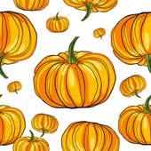 Thanksgiving pumpkin pattern — Stock Photo