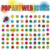 Pop-art-web-icons — Stockfoto