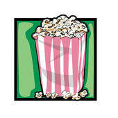 Clip art popcorn — Stock Photo