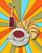 Pop art tea time — Stock Photo