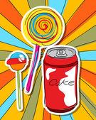 Arte pop dulces — Foto de Stock