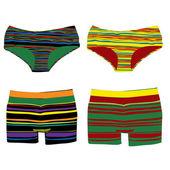 Men and women underwear — Stock Photo