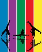 Kids jumping — Zdjęcie stockowe