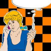 девушка на телефоне — Стоковое фото