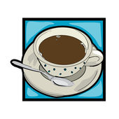 Clip art coffee — Stock Photo