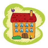 Doodle house — Stock Photo