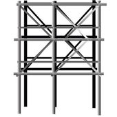 Metal scaffold — Photo