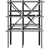Metall byggnadsställning — Stockfoto