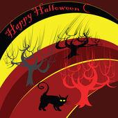 Gelukkig halloween achtergrond — Stockfoto