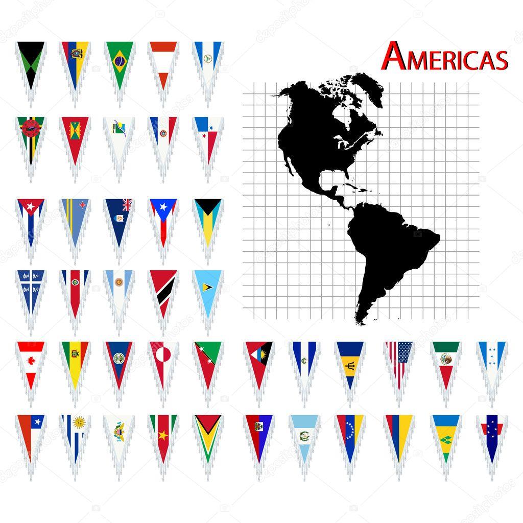 Banderas De América  Foto Editorial De Stock  Richcat - America mapa juego