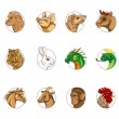Chinese zodiac signs - Foto Stock