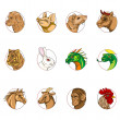 Foto Stock: Chinese zodiac signs