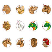 Chinese zodiac signs — Stock Photo