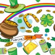 Saint Patrick's day pattern — Stock Photo