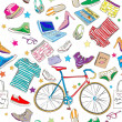 Urban hipster accesories pattern — Stock Photo