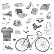 Urban hipster accesories — Stock Photo