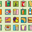 Pop art food pattern — Stock Photo