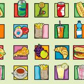 Padrão alimentar de pop art — Foto Stock