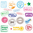 Club music stamps — Stockfoto