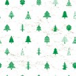 Abstract christmas tree pattern — Stockfoto