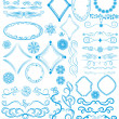 Vector set of design elements — Stok Vektör #10362457