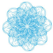 Soyut izole vektör çiçek — Stok Vektör