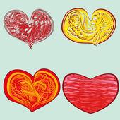 набор абстрактных сердца — Cтоковый вектор