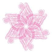 Streszczenie wektor na białym tle kwiat — Wektor stockowy