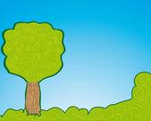 Abstracto árbol, símbolo de la naturaleza — Vector de stock