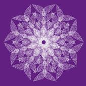 抽象孤立的矢量花 — 图库矢量图片