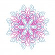 Abstract isolated vector snowflake — Imagens vectoriais em stock