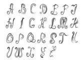 Původní vektorové písmo s kadeří — Stock vektor