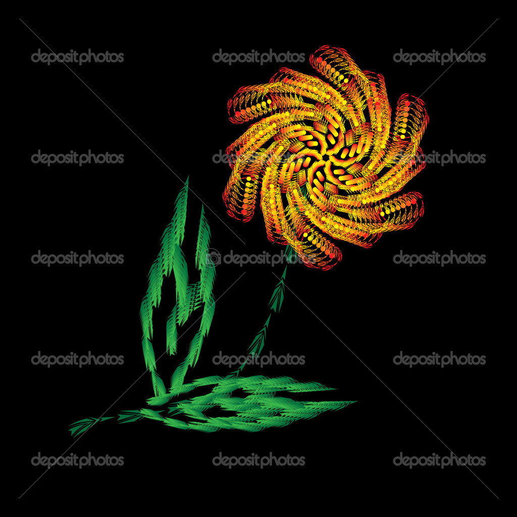 Isolated flower — Stock Vector #8159914