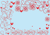 Abstract frame with hearts — Stock Vector
