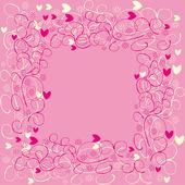 Cuadro abstracto con corazones — Vector de stock